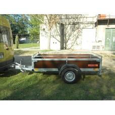 Remorca auto 1300 kg Boro Bork dimensiune 245x132 cm