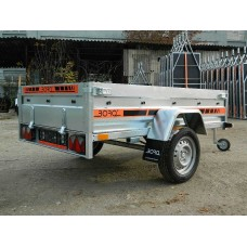 Remorca auto 750 kg Agro basculabil 205x122 cm ( suspensie cu arcuri )