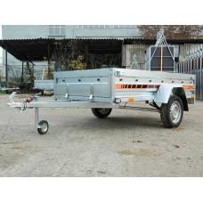 Remorca auto 750 kg Agro basculabil 233x132 cm  (suspensie cu arcuri)