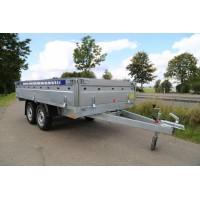 Remorca Platforma 750 kg Cu 2 Axe Si Dimensiune Utila 300x150 cm