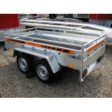 Remorca auto 750 kg Boro Majster punte tandem, dimensiune 245x125 cm