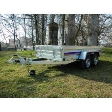 Remorca utilitara auto Niewiadow 1400 kg dimensiune 304x150 cm