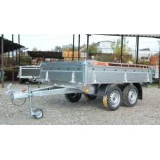 Remorca auto 750 kg BH punte tandem, dimensiune 250x150 cm