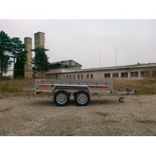 Remorca auto 750 kg Agro basculabil cu punte tandem 233x132 cm