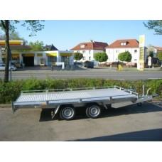 Remorca platforma transport auto Pionier 4x2 m